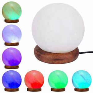 Himalayan LED White USB Ball Salt Lamp Rock Crystal Healing Ionizing Night Light