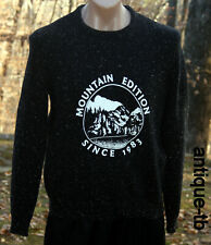 Vans Medford Cable Knit Pullover Sweater Mountain Edition Men's M Black LE