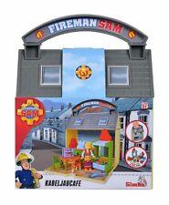109251057 Simba Feuerwehrmann Sam Kabeljaucafe mit 2 Figuren Fireman Sam