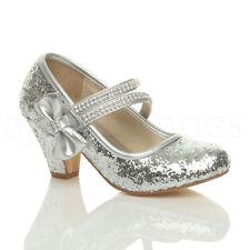 Scarpe elegante in argento per bambine dai 2 ai 16 anni