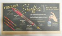 "Sheaffer's  Pen Ad:  Sheaffer's The ""Touch Down"" Pen 1952 Size: 7.5 x 15 inches"