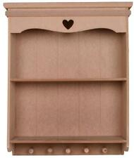 UNFINISHED UNPAINTED shabby / chic Carved heart shelf / Shelving unit WALL UNIT