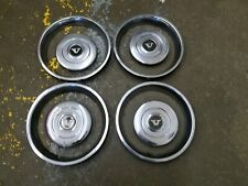 Volvo OEM 1980-1985 242 244 245 Set of Center Hub Caps and Beauty Trim Rings