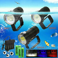 Photography Scuba Diving White Red Blue LED Flashlight Video Fill Light Torch