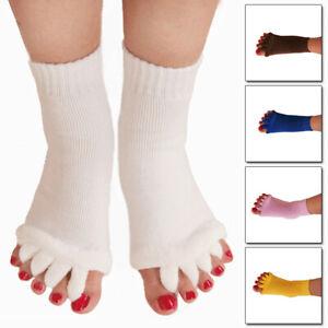 1 Pair Toes Alignment Socks Open Five Toe Separator Comfort Sports Health Cares