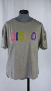 BNWT Hush DISCO Glitter T Shirt TEE Grey Marl size S To Blouse