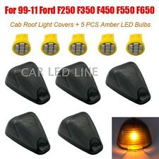 5 pcs For 99-11 FORD F250 F350 Pick Up Led Smoke Cab Roof Covers+Free 5 led Bulb
