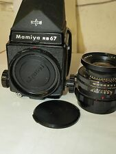 GENUINE MAMIYA RB67 PRO CAMERA with SEKOR-C 90mm F3.8 & PRISM and 120 FILM BACK