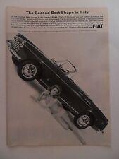 1965 Print Ad Fiat 1500 Spider Sports Car ~ Sexy Bikini Girl 2nd Best Shape