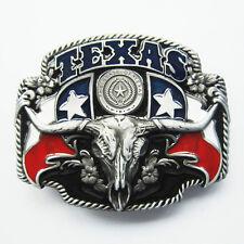 BRAND NEW TEXAS STATE COWBOY FLAG BLACK  BELT BUCKLE