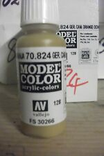 MODEL PAINT 17ml BOTTLE VAL824  AV Vallejo Model Color  German Cam. Orange Ochre