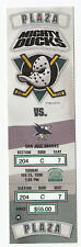 DUCKS VS SHARKS 1996 FULL TICKET STUB MINT 2/25/96 TEEMU SELANNE HAT TRICK GOALS