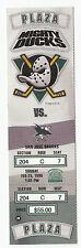 DUCKS VS SHARKS 1996 FULL TICKET STUB MINT 2/25/96 TEEMU SELANNE HAT TRICK GOALS