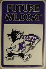 NEW Kansas State University Future Wildcat Parking Sign 11 x 16.5 Plastic KSU