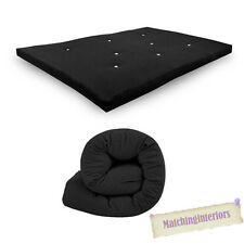 All Sizes Replacement Futon Mattress 9 Colours FREEPOST Black 2 Seater Double