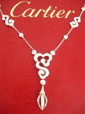 CARTIER VALENTINE NUAGE MOTIF DIAMOND NECKLACE 18K WHITE GOLD NEW