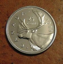 1988  CANADA quarter dollar twenty five 25 cents cent piece coin PL Proof Like