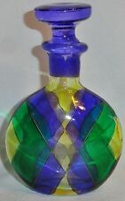 Beautiful Vintage Bicchielli Art Glass Perfume Bottle Flask With Stopper Signed