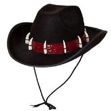ANNI 80 LUSSO COCCODRILLO AVVENTURIERO Cappello Costume nero durevole con denti