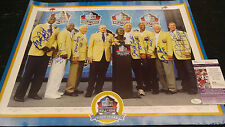 "17""x22"" Buffalo Bills HOF Signed Poster Wilson Bruce Kelly Thurman Shaw JSA COA"