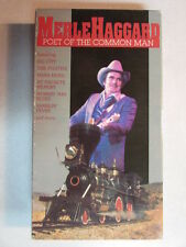 MERLE HAGGARD POET OF THE COMMON MAN STEREO HIFI VHS NTSC LIVE CONCERT VIDEO OOP