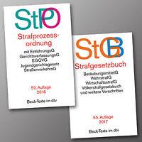 StGB 55. + StPO 52. STRAFGESETZBUCH + STRAFPROZESSORDNUNG sofort lieferbar