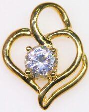 Joli Pendentif en or 9K + diamant Cz (synthétique) 3x3x1mm 1 carat > voir vidéo