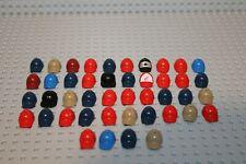 Lego Minifig Figur 44x Helm Hut hat Kopfbedeckung Schirmmütze