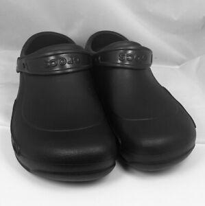 Crocs Bistro Clogs Black Slip-on Slip Resistant Comfort Shoes Size 12 Mens Black
