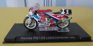 Moto Honda RS 125 N° 1 Pilote Loris Capirossi  1991      réf 462