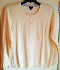 "NWT-MINT! TALBOTS Pima Cotton Blend ""Charming"" Cardigan-Plus 1X-Ivory"
