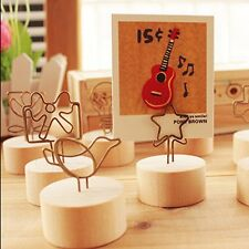 Wedding Place Card Photo Clip Name Memo Note Recipe Holder Table Stand Display