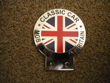 MGB NEW UNION JACK CHROME AND ENAMEL CAR BADGE MADE IN GB