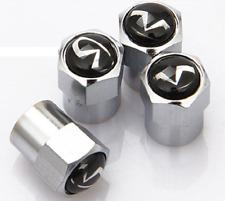 4 x tapones de polvo de Válvula Neumáticos Cromo Plateado (se adapta a Infinit)