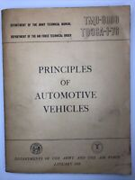 1956 TM 9-8000 PRINCIPLES Of AUTOMOTIVE VEHICLES  Army Air Force TO 36A-1-76 *