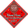 Personalised Baby's First Christmas Tree Decoration Sign - Sign Red