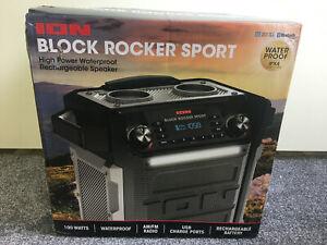 ION Audio Block Rocker Sport 100Watt Bluetooth Party Lautsprecher wasserfest NEU