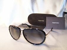 Authentic Tom Ford Sunglasses Cyrille TF109  28W Black Aviator