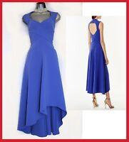 Karen Millen UK 12 Royal Blue Asymmetric Hem Prom Ballgown Midi Dress EU40 £215