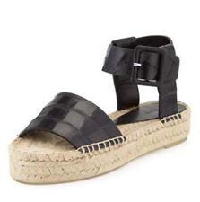 67b08ad5e86 Vince Edina Black Croc Embossed Leather Platform Espadrille Sandal Elise 7