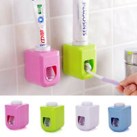 Kids Automatic Toothpaste Dispenser Squeezer Wall Mounted Rack Stand Holder UK