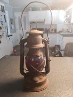 Antique Embury? Kerosene Lantern Signal Barn Lamp #150 Little Supreme, Mich.