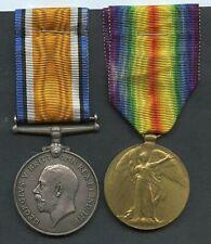 WORLD WAR ONE PAIR OF MEDALS  To Pioneer Albert Greenwood, Royal Engineers