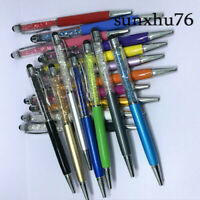 Metal Diamond Crystal Pen Glittering Ballpoint Stylus Touch Stationery 10X Gift