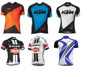 KTM Giant Team Men Cycling Jersey Bike Short Sleeve Shirts