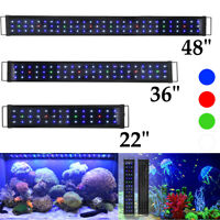Aquarium Full Spectrum Multi-Color LED Light For Freshwater Fish Tank 24 36 48