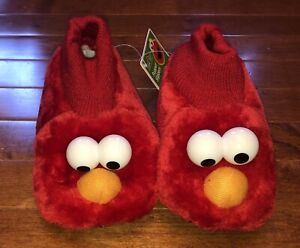 Sesame Street Elmo Toddler Slippers House Shoes Size M 7-8 New