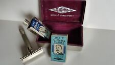 "Ancienne "" Rasoir GILLETTE "" Importé d'Angleterre - English box + lame neuves"