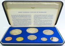1973 SILVER BARBADOS 8 COIN COLLECTOR'S PROOF SET FRANKLIN MINT KM# PS1