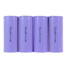 Soshine 4x IFR 26650 Battery 3.2V Rechargeable 3200mAh 30A Flat Top LiFePO4 D5N0